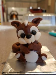 Squirrel Fondant Topper